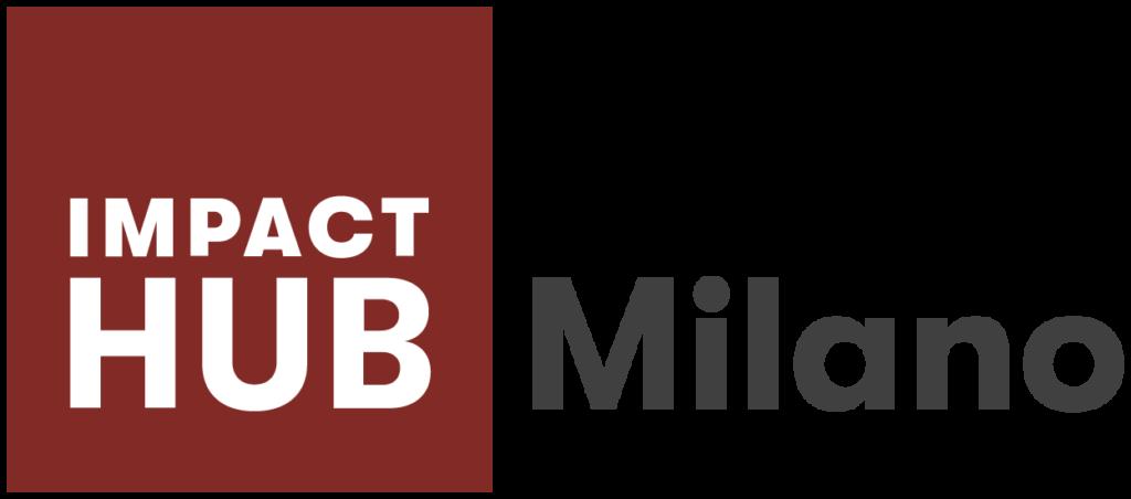 logo impact hub milano rossoe bianco