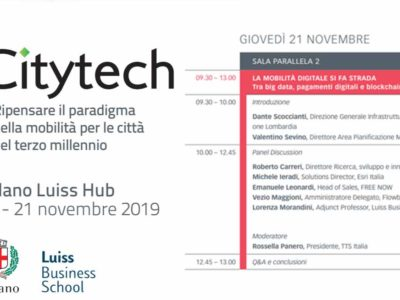 CITYTECH   MILANO LUISS HUB   20 – 21 Novembre 2019