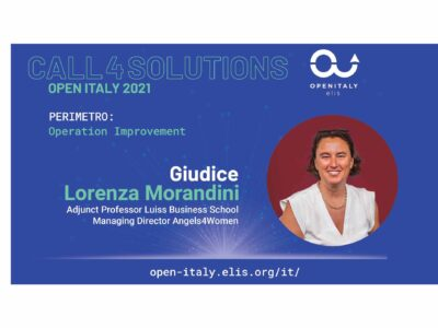 Al via la Call4Solutions di OPEN ITALY 2021 ELIS